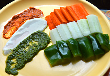 #I-DayEats: How to make a tricolour yogurt dip