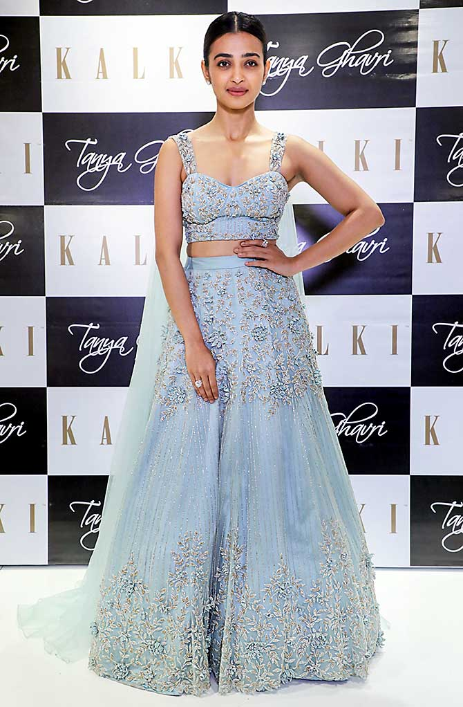 Image result for latest images of radhika apte in blue lehenga