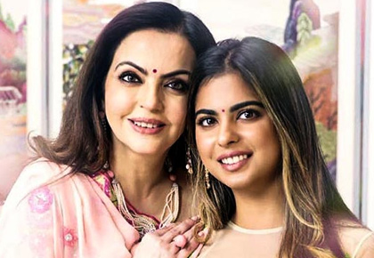 Who dresses bride to-be Isha Ambani the best?