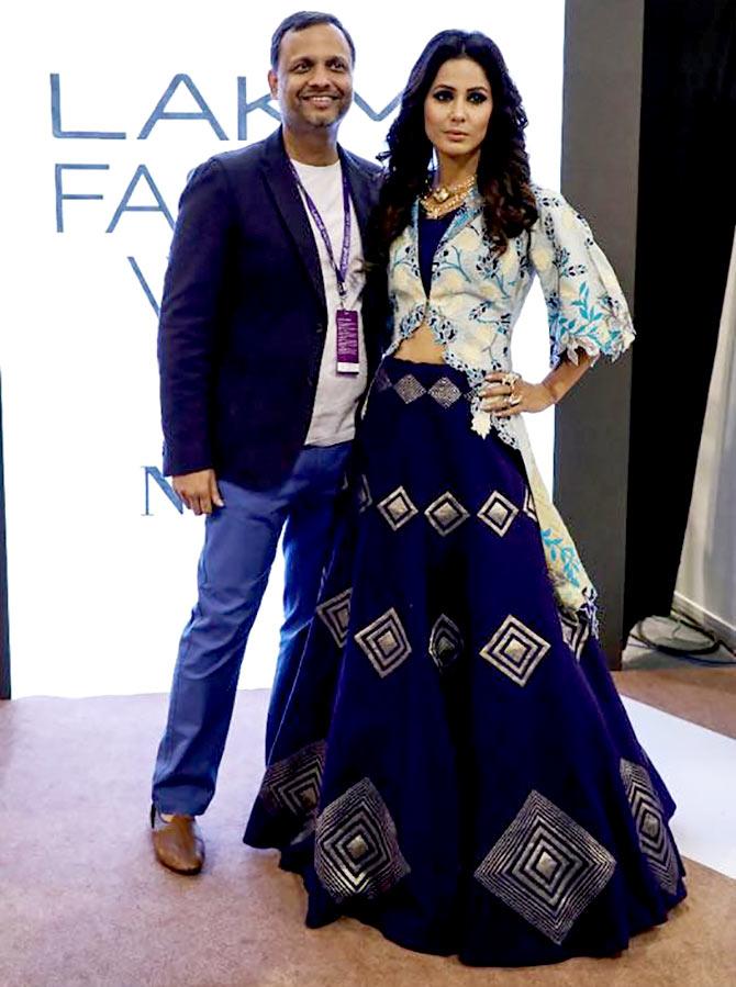 Bigg Boss 11 Star Hina Khan Makes Lakme Fashion Week Debut Rediff