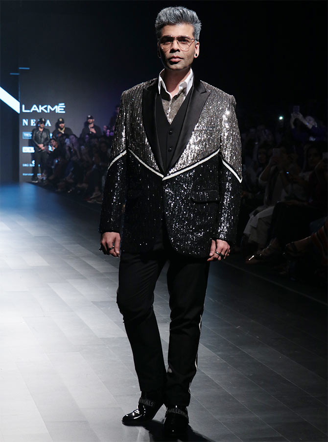 Karan Johar Falguni and Shane Peacock Lakme Fashion Week