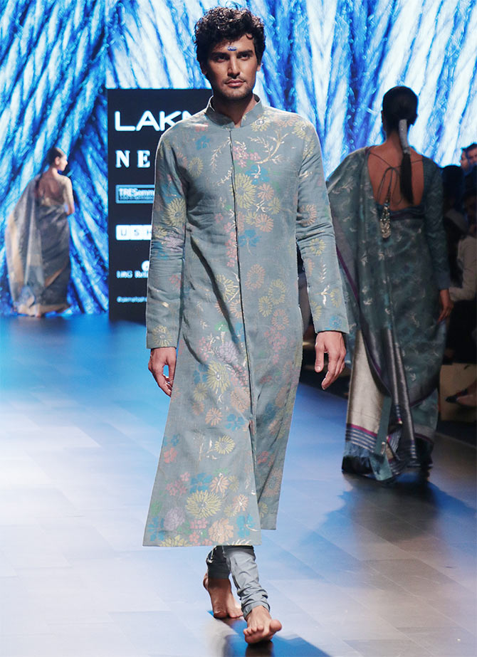 Gaurang At Lfw These Brides Bleed Blue Rediff Com Get