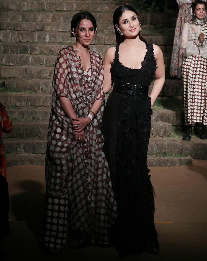 Kareena Kapoor Anamika Khanna grand finale Lakme Fashion Week