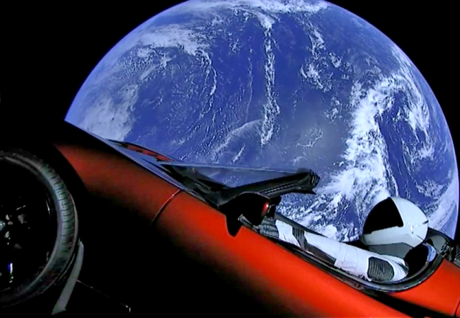 Latest News from India - Get Ahead - Careers, Health and Fitness, Personal Finance Headlines - Is Elon Musk's Tesla in space the moon landing of our times?