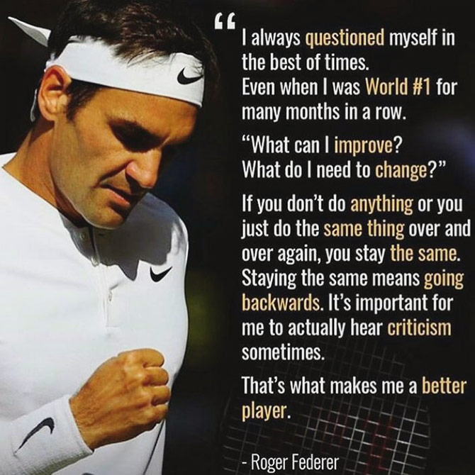 Instagram Inspirational quotes Roger Federeer motivational quotes