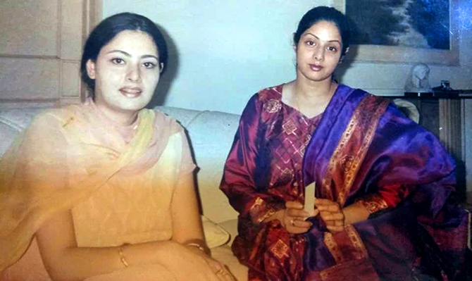 Agnimitra with Sridevi in 2000