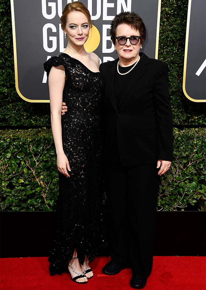 billie jean king Golden Globes