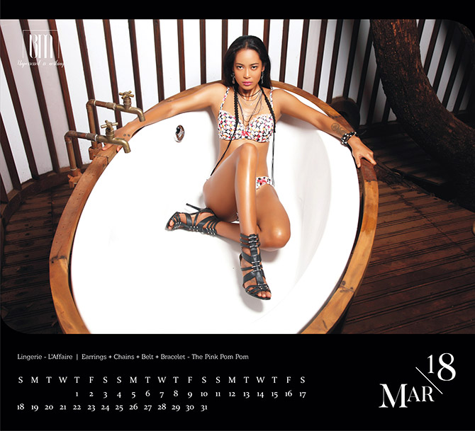 India Intimate Fashion Week  Black Magic calendar