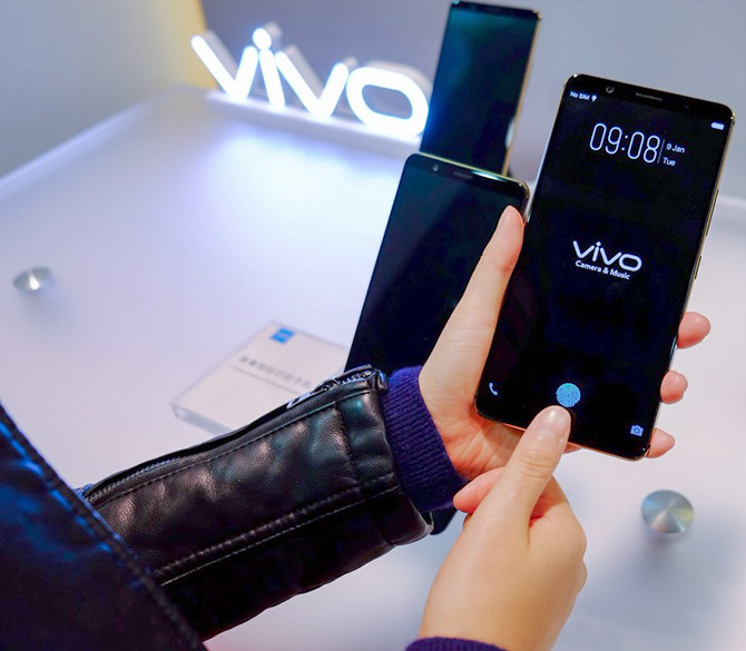 Vivo in-screen fingerprint scanner