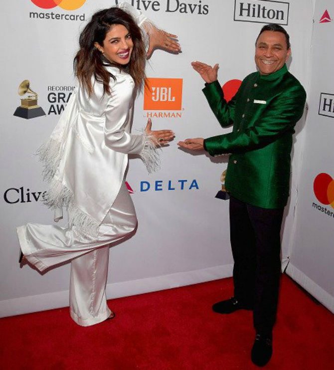 Priyanka Chopra and Dinesh Paliwal Grammy