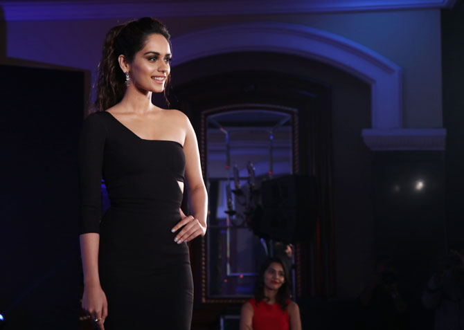 Image result for Manushi Chhillar's little black dress
