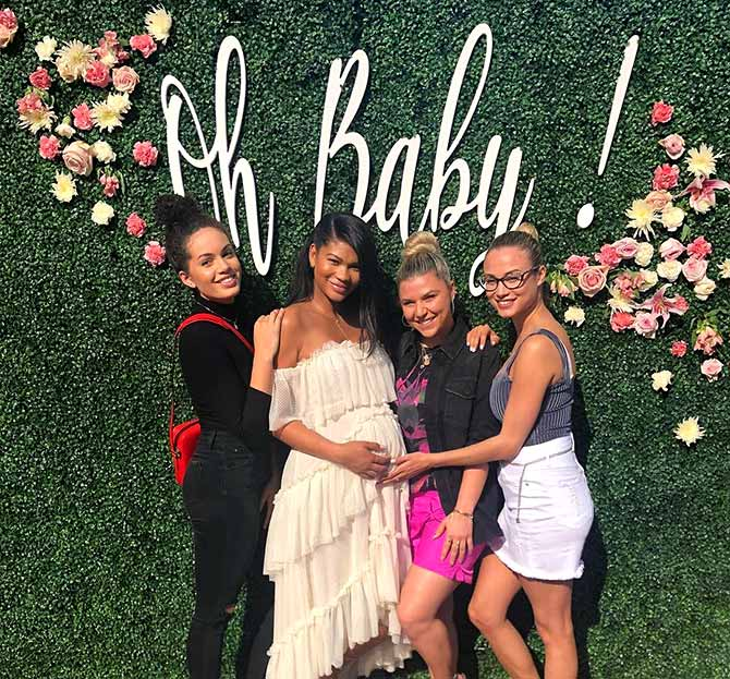 Photos Chanel Iman S Pink Themed Baby Shower Rediff Com