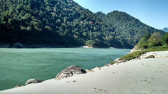 The Siang river. Photograph: Courtesy Arunachal Tourism.