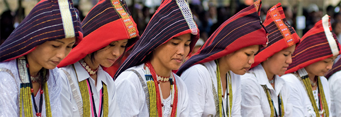 Tribal girls performing. Photograph: Courtesy Arunachal Tourism.