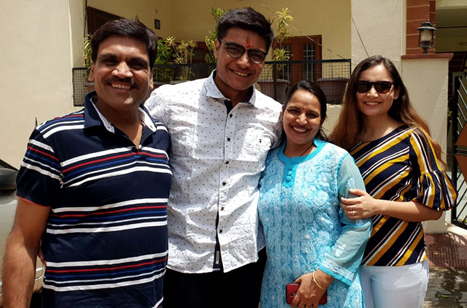 Aman Garg with his family