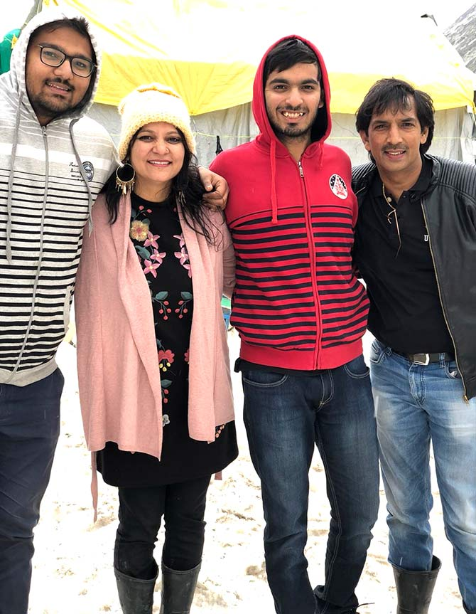 Anmol Garg with family