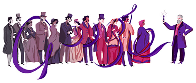 Google doodles chemist Sir William Henry Perkin