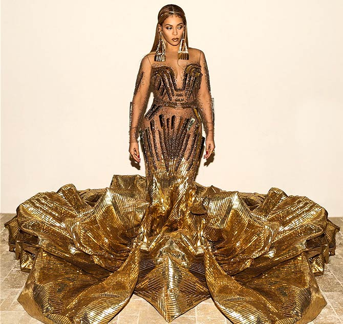 The Indian designers behind Beyonce\'s warrior queen gown - Rediff ...