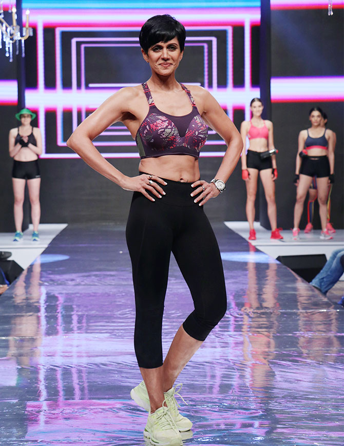 Mandira Bedi walks for Triumph International's Triaction show