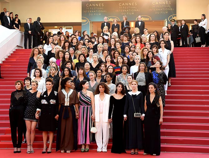 Salma Hayek, Rasika Duggal support #MeToo at Cannes