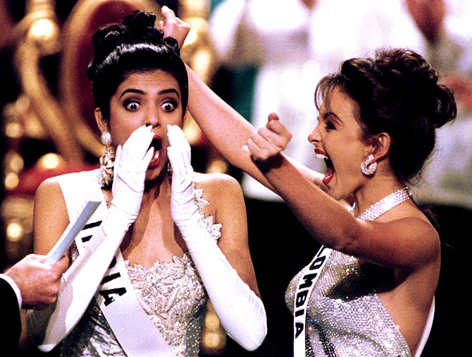Sushmita Sen wins Miss Universe on May 21, 1994