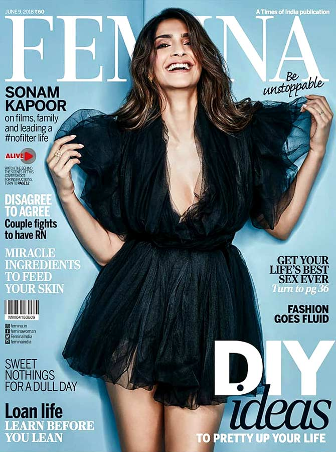 Latest News from India - Get Ahead - Careers, Health and Fitness, Personal Finance Headlines - Sonam's first cover post marriage is too cute to ignore!