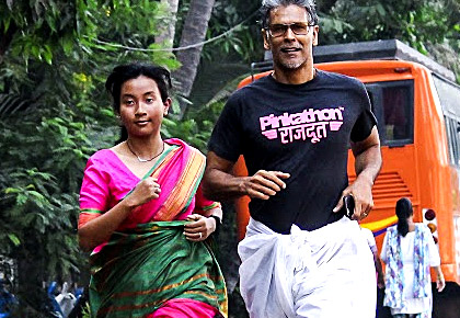 Latest News from India - Get Ahead - Careers, Health and Fitness, Personal Finance Headlines - When Milind Soman inspired women to run in a sari