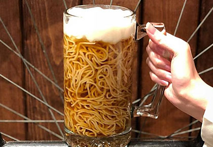 Noodle lovers! Would you dare to have beer ramen?