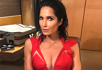 Latest News from India - Get Ahead - Careers, Health and Fitness, Personal Finance Headlines - Padma Lakshmi's red gown has a secret message