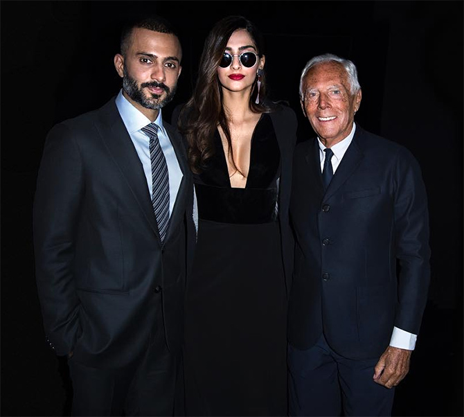 d733f6248222 Cleavage-baring Sonam goes sexy for Armani - Rediff.com Get Ahead
