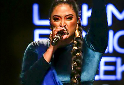 MUST SEE: Raja Kumari raps on the ramp