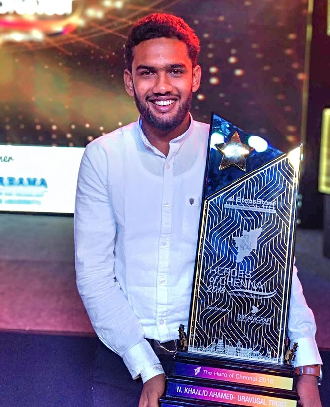 Khaalid Ahmed wins Heroes of Chennai 2018