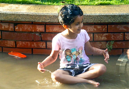 Monsoon pix: A perfect time to splash and play
