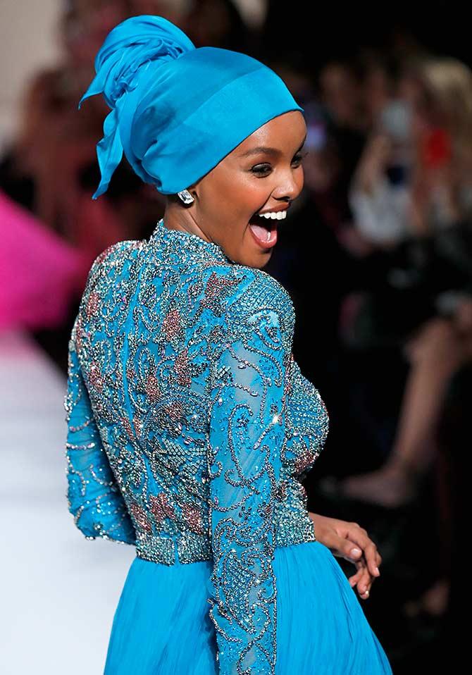at 21 hijabi model halima aden turns designer rediff