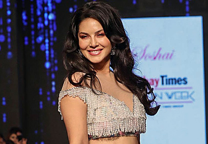 Sunny sizzles in a low cut lehenga choli
