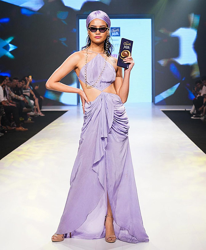 Tamannah walks for Gabriella Demetriades at Bombay Times Fashion Week in Mumbai