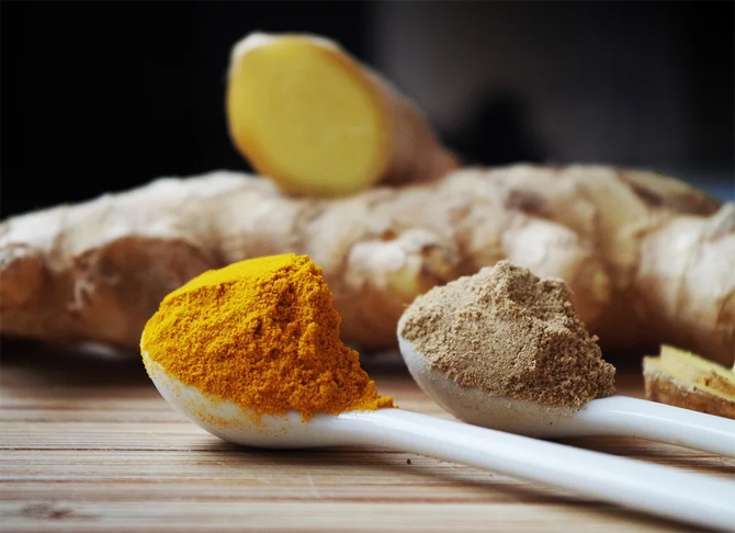 Ginger and turmeric are great to boost your immunity