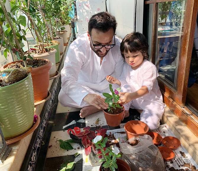 Saif with Taimur