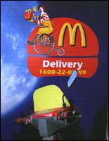 A McDonald's delivery bike at Big Mac's outlet in Bandra, Mumbai. Photo: Jewella C Miranda