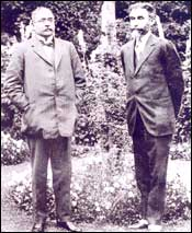 Sir Ratan Tata with Gopal Krishna Gokhale. Photo: Tata Central Archives