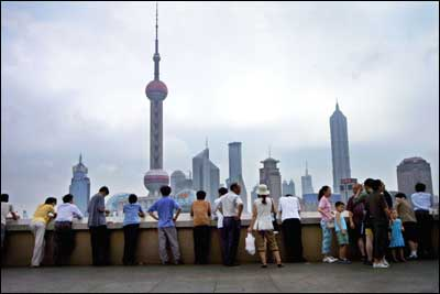 The Shanghai skyline. Photo: AFP/Getty Images.