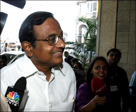 Finance Minister P Chidambaram. Photo: Jewella C Miranda