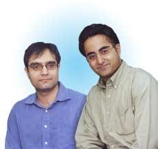 Suvir Sujan (Left) and Avnish Bajaj of Bazee.com