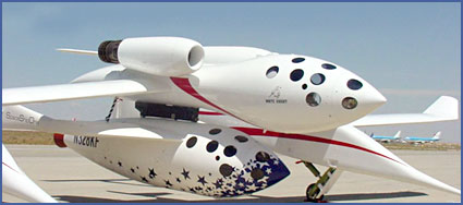 The SpaceShipOne. Photograph: Scaled Composites