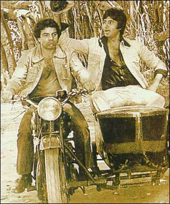 A still from the film Sholay