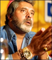 UB Chairman Vijay Mallya. Photograph: AFP/Getty Images
