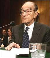 (Above) Federal Reserve Chairman Alan Greenspan is expected to retire early next year. Photograph: AP/Gerald Herbert, File.