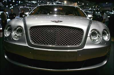Bentley Continental Flying Spur -- the world's fastest sedan -- is in India now, and it costs a cool Rs 1.7 crore (Rs 17 million). Photograph: Bruno Vincent/Getty Images