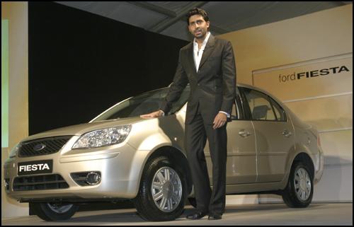 Abhishek Bachchan, Ford Fiesta's brand ambassador. Photograph: Jewella C Miranda