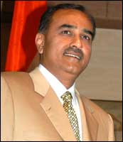 Civil Aviation Minister Praful Patel. Photograph: Sondeep Shankar/Saab